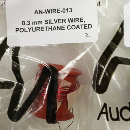 Audio Note AN 0.3 mm SILVER WIRE, POLYURETHANE COATED фото 1