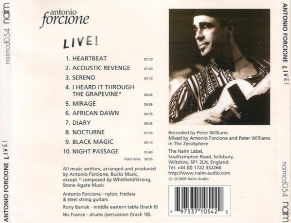 Audio CD. Antonio Forcione. Live! фото 2